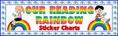 Reading Rainbow Student Sticker Charts Bulletin Board Display Banner