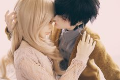 Image discovered by Lais Avalos. Find images and videos about cute, bjd and ball jointed dolls on We Heart It - the app to get lost in what you love. Anime Dolls, Blythe Dolls, Barbie Dolls, Lovely Girl Image, Girls Image, Pretty Dolls, Beautiful Dolls, Cute Anime Couples, Anime Couples Manga