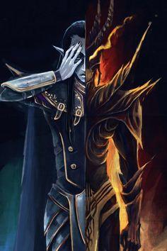 by Ayamekure on DeviantArt Warhammer Dark Elves, Warhammer Fantasy, Fantasy Story, High Fantasy, Character Drawing, Character Concept, Dark Empire, Dark Eldar, Fantasy Heroes