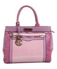 Look at this Nicole Lee Purple Alecia Tote on today! Pink Handbags, Purses And Handbags, Leather Backpack Purse, Coin Purse, Nicole Lee Handbags, Top Designer Handbags, Cute Bags, Michael Kors Hamilton, My Bags