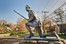 The Minute Man Statue. Westport, Connecticut
