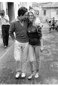 During her honeymoon with Jacques Charrier, Saint-Tropez, 1959. Photography by Edward Quinn