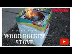 Wood rocket stove camping bushcraft  - part 2 / Soba din cutii pentru camping - YouTube Rocket Stoves, Bushcraft, Youtube, Camping, Outdoor Decor, Campsite, Youtubers, Campers, Tent Camping