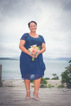 Gorgeous bridesmaid wearing the #Alexis dress by Sally Eagle #bridesmaidsdresses #navyblue #sallyeaglebridal #wedding Photo credit: Stephan and Walsh