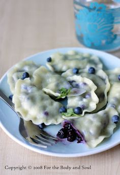 For the body and soul...: Wild Blueberry Pierogi ( maybe try with raspberry, blackberry, etc.)