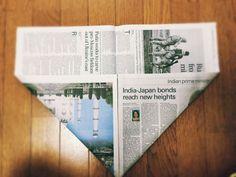 私のお気に入り。新聞紙で作るゴミ箱とマチありの袋 | かたづけとモノづきあい Letterhead Template, Brochure Template, Flyer Template, Fabric Storage Boxes, Diy And Crafts, Paper Crafts, Origami Box, Cool Business Cards, Certificate Templates