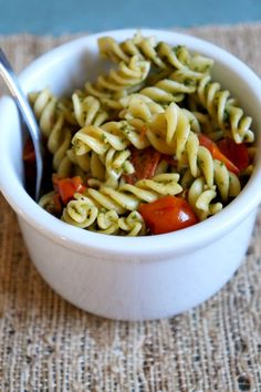 Kale Pesto Pasta | tomatoboots.co