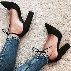 Chellysun Ankle Strappy Pointed Heels Shoes Heels Black, Cute Black Heels, Black Pumps Outfit, Black Strap Heels, Tie Heels, Women's Heels, Black Chunky Heels, Suede Heels, Shoes Heels Boots