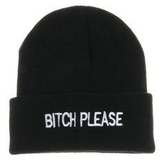2016 Winter Beanie BITCH PLEASE Gorro Cotton Hat Beanies For Men And Women Cap Bonnet Gorro Invierno Warm Skullies Knitted Caps