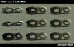 ARROW Concept Art of Oliver Queen and Brother Blood's Mask by Any Poon « Film Sketchr