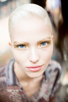 The Beauty Report: Futuristic Metallic Brows at Dior - Vogue Daily - Fashion and Beauty News and Features