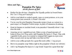 Ideas and tips for Stuart's Spices Pumpkin Pie Spice Yam Or Sweet Potato, Sweet Potato Casserole, Spice Shop, Goulash, Venison, Pumpkin Pie Spice, Yams, Spices, Ideas