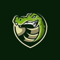 by contact us if you need an awesome design . Gator Logo, Fantasy Logo, Crocodile Logo, Logo Process, E Sport, Logo Sticker, Cool Logo, Logo Nasa, Creative Logo