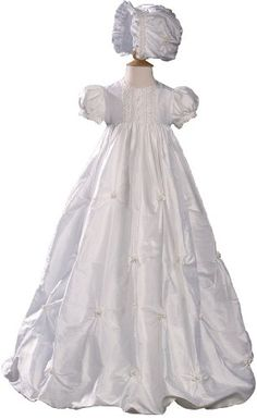 Silk Dupioni Bubble Christening Baptism Gown, « Clothing Impulse