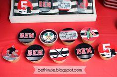 hockey party printables by Beth Kruse Custom Creations
