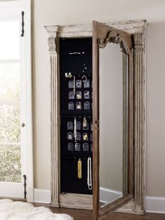 Inspiring Mirrored Jewelry Armoire For Jewelry Organizer Ideas ...