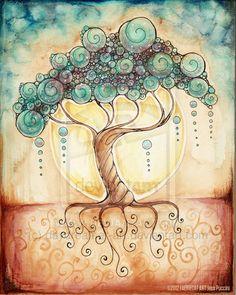 Tree of the Fae by starwoodarts on DeviantArt Tree Of Life Art, Tree Art, Altered Canvas, Acrylic Art, Wall Art Designs, Gouache, Oeuvre D'art, Zentangle, Creative Art
