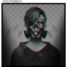 Time passes, friends are lost by hanabusa on Polyvore featuring art, white, black, anime and manga