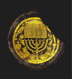 Roman gold glass medallion with Jewish ritual objects, 3rd century A.D. British…