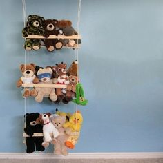 Best of Both Worlds: Stylish & Organization Toy Storage http://www.itsalwaysautumn.com/2012/10/31/stuffed-animal-swing-diy-hanging-toy-storage.html