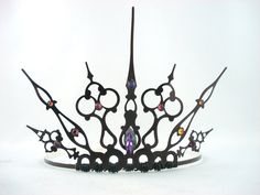 Purple Gothique - Black Filigree Gothic Tiara Evil Queen Crown Evil Queen Tiara Once Upon a Time - Made to Order