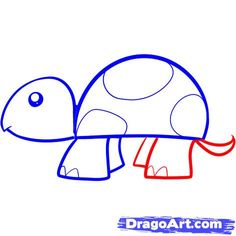 how to draw a simple turtle- thinking we'll draw the turtle then explore cool colors or patterns on the shell