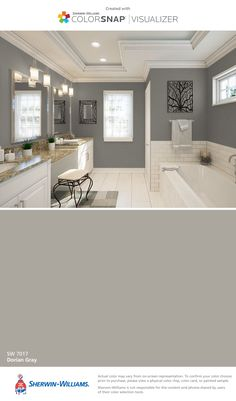 I found this color with ColorSnap® Visualizer for iPhone by Sherwin-Williams: Dorian Gray (SW 7017).