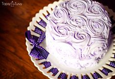 purple-rosette-smash-cake