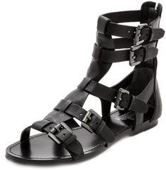 Belle By Sigerson Morrison Bianca Gladiator Sandals in Black - Lyst