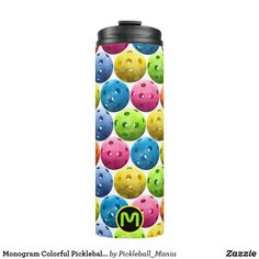 Monogram Colorful Pickleballs Thermal Tumbler