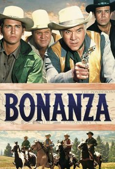 "Bonanza TV Series Michael Landon – Joseph ""Little Joe"" Dan Blocker – Eric ""Hoss"" Cartwright Lorne Greene – Ben Cartwright Pernell Roberts – Adam Cartwright Tv Westerns, Vintage Tv, Vintage Cartoon, Vintage Industrial, Unique Vintage, Sean Leonard, Mejores Series Tv, Pernell Roberts, Bonanza Tv Show"