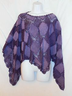 TG 70/80s BOHO SUEDE purple LAVENDER SUEDE Patch CAPE/PONCHO TOP/ ONE SIZE   #EBAY#VINTAGE#70S#HIPPY#BOHO#
