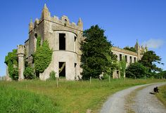 """Ardfry House was built around 1770 and is on a peninsula overlooking Galway Bay. The gothic features were added in the 1820s. The house was home to a Lord Wallscourt whose wife is known to have had gambling debts that were paid off by selling lead off the roof during the early 1900s. In 1970 the house temporarily got a new lease of life with a new roof and windows, for a film called """"The Makintosh Man"""", starring Paul Newman"""