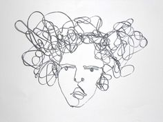 Woman Portrait wire wall sculpture -  My thoughts whisk around by morphingpot on Etsy https://www.etsy.com/listing/222013083/woman-portrait-wire-wall-sculpture-my