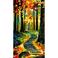 "Oil painting - ""Stairway in the old park…"