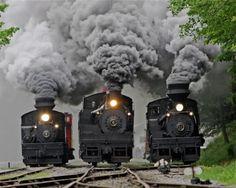 ¿una carrera de trenes?