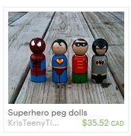 KrisTeenyTinys Peg Dolls by KrisTeenyTinys on Etsy