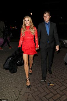 Rock a red dress this Christmas like Paris in Alexis #DailyMail