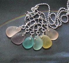 Pastel Dreamcatcher Seaglass Necklace