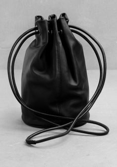 Leather bucket bag, & other stories - £45