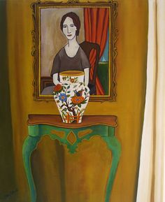 Lives in a dream  Waits at the window, wearing the face that she keeps in a jar by the door  Who is it for?  Eleanor Rigby~ The Beatles     http://catherinenolinfineart.blogspot.