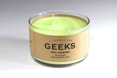 A Candle for Geeks, love these candles and soaps by Whiskey River Soap Co!!