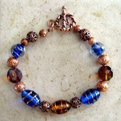 Items similar to Busy Bees Bracelet on Etsy Beaded Jewelry, Beaded Bracelets, Jewellery, Busy Bee, Bees, Swarovski Crystals, Copper, Gemstones, Pretty