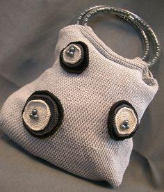 crochet inspiration ~ Borsa grigia/ grey bag