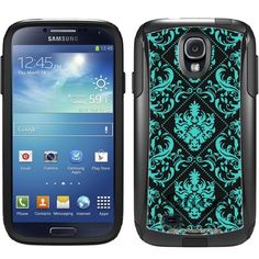 Otterbox Commuter Series Teal Damask on BLack Hybrid Case for Samsung Galaxy S4 TrekCovers http://www.amazon.com/dp/B00HVM878M/ref=cm_sw_r_pi_dp_R3J5tb145RXDQ