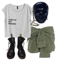 """Sin título #6"" by elisaalarcon on Polyvore featuring Faith Connexion, Dr. Martens y Loungefly"