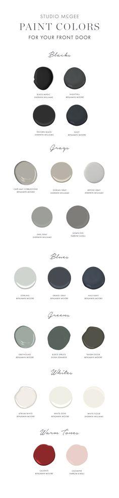 Front door paint guide - Studio McGee Blog
