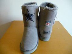 Dallas Cowboys UGG Boots | Women's Dallas Cowboys Cheerleader Boots - Gray