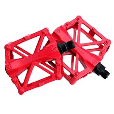 One Pair Bike Bicycle Pedals RuiyiF 916 Inch Aluminum Alloy Platform Pedals for MTB BMX Road Mountain Bike  Red *** Want to know more, click on the image.