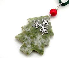 Connemara Marble Ornament with Snowflake by HandmadebyAmor on Etsy